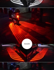 Motorcycle lights modified chassis lights LED angel wings welcome lights