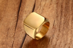 Men's Simple Lightweight Titanium Steel Ring golden u.s 11