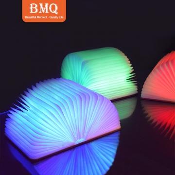 Kilimall: LARGE New creative mini wooden book light LED folding USB ...