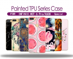 Infinix HOT 6 Pro/X608 Painted soft shell back cover 20 colors captain one size