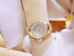 BS new hot selling watch high-end chain list custom full drilled women watch gold