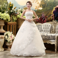 1 Piece Women Sexy Off Shoulder Lace Up Wedding Dresses Bride Dresses Ball Gowns s style 1