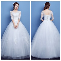 Wholesale Price Lace Wedding Dresses Bride Gown High Quality Wedding Gown 3xl white