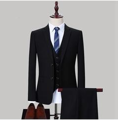 High Quality Luxury Men Wedding Suit Two Pcs Blazer&Pants Bridegroom Groomsman Business Casual Suits black m
