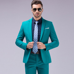 High Quality Mens Suits 3 pieces Fashion Groom Wedding Suits Slim Formal Male suit Business Suits green 4xl