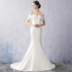 2019 Africa Newest Evening Party Dress Elegant White Party Gown Banquet Party Dresses Bride Gown 2 white