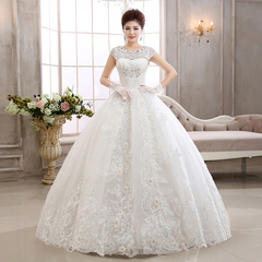Lace Wedding Dresses Korean Princess Wedding Gown Slim Lace Bride Dresses Wedding Clothes s white