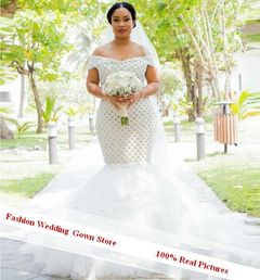 Bridal Gown Princess Wedding Gowns Custom Made Brilliant Mermaid Lace Wedding Dress 95% similarity 2 white