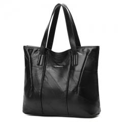 Women Tote Bag Genuine Sheepskin Casual Hand Bags Big Capacity Woman Shoulder Bag Large Ladies black as picture