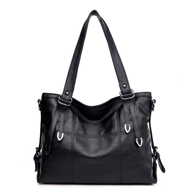 3722b62d6d ... Women s Genuine Leather Handbag Leather Casual Tote Bag Female Shoulder  Bag black 35x13x25  Product No  1626501. Item specifics  Brand