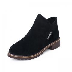 Lehai 1 Pairs Size 35-40 British Style Zip Matte Retro Casual Classic Ankle Boots Women's Shoes black 35