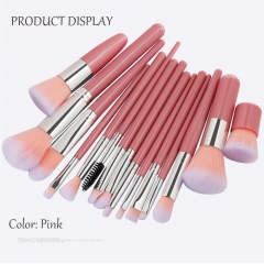 15pcs/set Makeup Brush Set Tools fiber Brushes Kits Pink