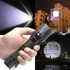 2018 Hot 10000 Lumens XM-L T6 Zoomable Tactical military LED 18650 Flashlight Torch Lamp black conventional