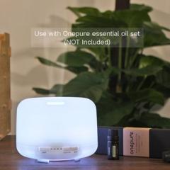 500ml colorful warm light classic humidifier aromatherapy oil mute night light White 500ML Warm White
