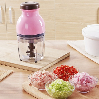 Baby supplement machine multi-function mini food grinding minced minced meat and fruit blender yellow