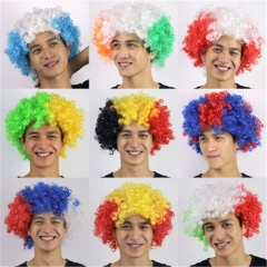 World Cup flag-coloured wig fans party supplies explode headgear carnival props Mixed color The French