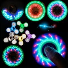 2018 fingertip gyro finger gyro electroplating light 32 variable light finger spiral child toy Fingertip gyro green