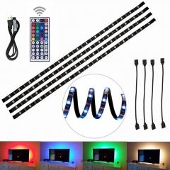 5050 led light with usb line TV background light strip 5V blackboard RGB seven color one drag four Seven colors 4*0.5M USB 5V
