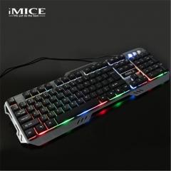 2018 new waterproof keyboard colorful backlight mechanical keyboard feel wired gaming keyboard silver grey 45.5*16*32cm