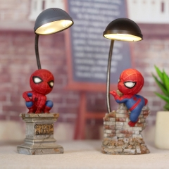 Cartoon Spiderman Doll LED Light Button Electronic Night Light Home Resin Crafts Decoration Boy Gift Spiderman 6.5*7.5*20cm LED
