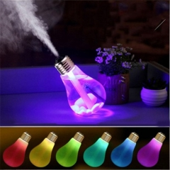 LED Bulb Humidifier Colorful Bulb Type Household Humidifier Air Purification Spray Humidifier 400ML 153*88*88MM Golden cap