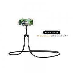 New lazy mobile phone tablet bracket bedside desktop universal long bracket black