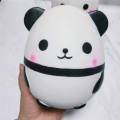 New PU slow rebound decompression vent toy squishy cartoon giant panda egg simulation animal White 15*13*12