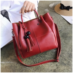 New fashion ladies shoulder bag Messenger bag three-piece red Length 33 Height 25 Thick 13
