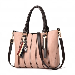 New female bag fashion handbag Messenger shoulder bag pink medium size