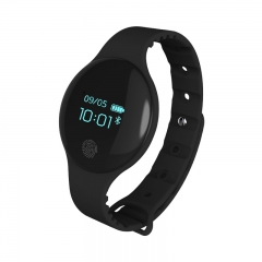TLW08 Smart Bracelet Sleep Monitoring Health Sports Bracelet Bluetooth Pedometer Black 0.66 Inches Screen Size
