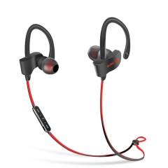 S2 Sports Bluetooth Earphone Wireless Ear-Loop Stereo Double Ear Red