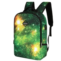 CH1505 USB Star Backpack Multifunction Headset Charging Business Travel Backpack Green 30L