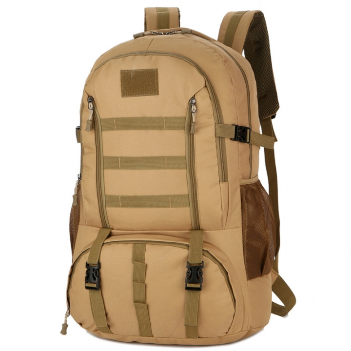 1033 New Tactical Package 60L Large Capacity Outdoor Climbing Backpack Travel Backpack Field Bag Khaki 60L
