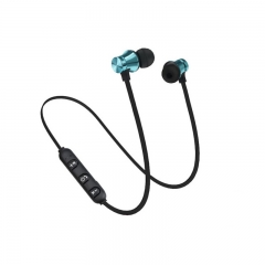 XT11 Magnetic Bluetooth Earphone Wireless Sports Bluetooth Earphone Blue