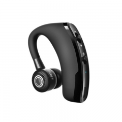 V9 Business Bluetooth Headset Hanging Ear Wireless CSR Stereo with Voice Control Black