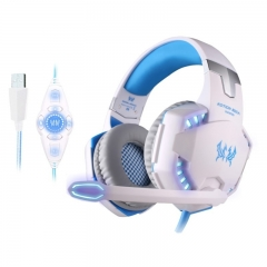 KOTION EACH G2200 USB 7.1 Surround Sound Vibration Game Gaming Headphone Computer Headset White