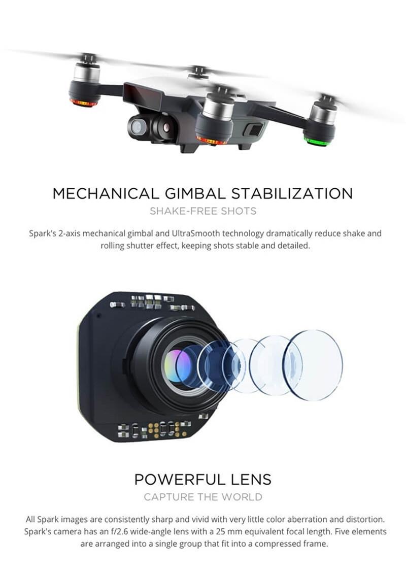 Original DJI Spark 12 0MP 1080P HD Camera Wifi FPV Quadcopter Aerial  Photography Selfie Pocket Drone White(Deluxe Edition) DJI Spark