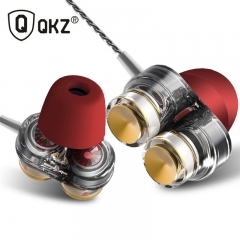 QKZ KD7 Headphones Universal Earbuds Sports Magic Sound Subwoofer Double Moving In-Ear Headphones Delicate white