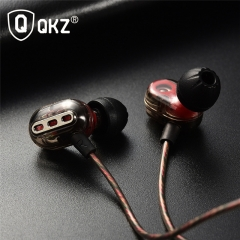 QKZ KD8 Double Moving Ring Four Unit Ring Iron HIFI Subwoofer Sports Monitor Headphones Black