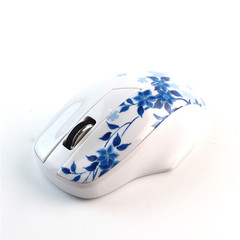 2.4G Wireless Mouse Laptop Computer Wireless Optical Mouse White 114mm * 72mm * 38mm
