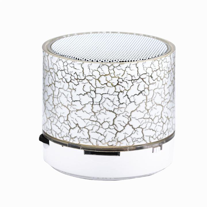 Bluetooth Speaker USB Phone Computer Mini Subwoofer Wireless LED Light Small Speaker White Bluetooth speaker
