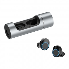 Hot Sale Black Technology 5.0 Bluetooth Headset Sports Noise Reduction Long Battery Life silver