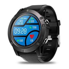 Smart watch touch screen Bluetooth heart rate detection movement black 1.3