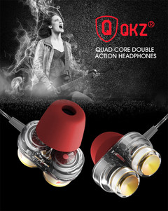 QKZ KD7 Headphones Universal Earbuds Sports Magic Sound Subwoofer Double Moving In-Ear Headphones