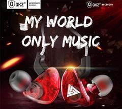 QKZ CK5 New Sports Ear-on Earphones Transparent Heavy Bass Mobile Music Headphones