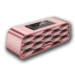 Dual Wireless Subwoofer Bluetooth Speaker for Computer Audio Charging Car Rose gold