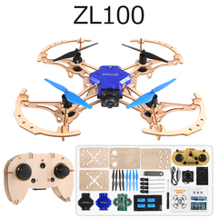 Functions: DIY Drone, Altitude Hold, 3D Rollover Stunt WOODEN ZL100-720P