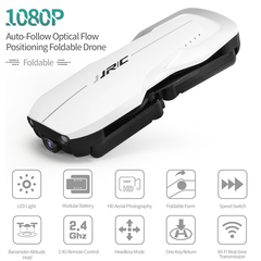 1080P HD Camera Small Size Aircraft Optical Flow Position Drone white H71-1080P