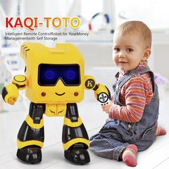 Intelligent Remote control Robot Intelligent Programming Toy yellow R17