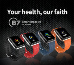 Smart watch heart rate blood pressure exercise mode fitness tracker blue SW-B7